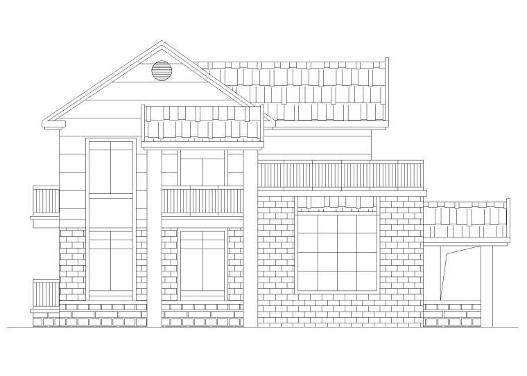 [分享]建筑施工图纸二层别墅资料下载