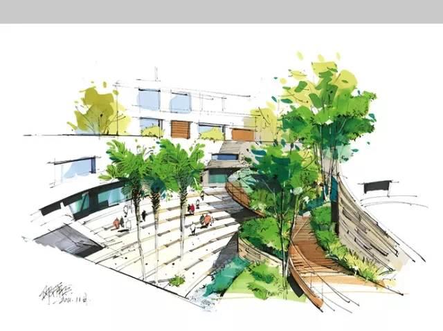千张建筑、景观、室内马克笔手绘表现图分享_13