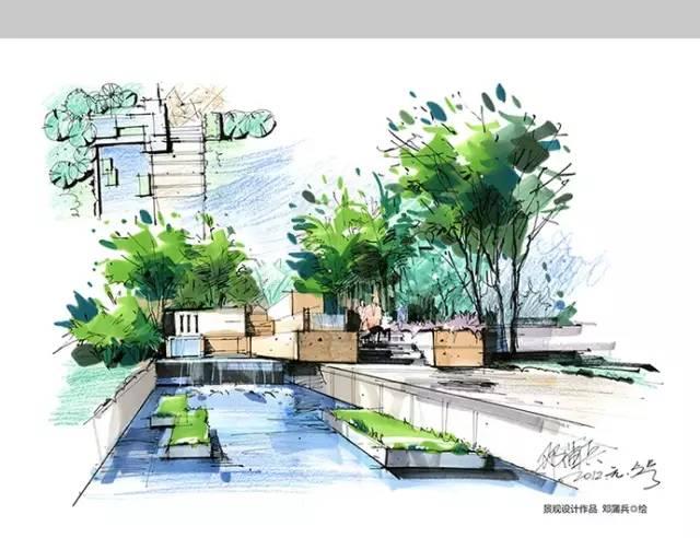 千张建筑、景观、室内马克笔手绘表现图分享_20