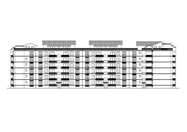 [四川]天香园阁楼多层住宅楼建筑施工图