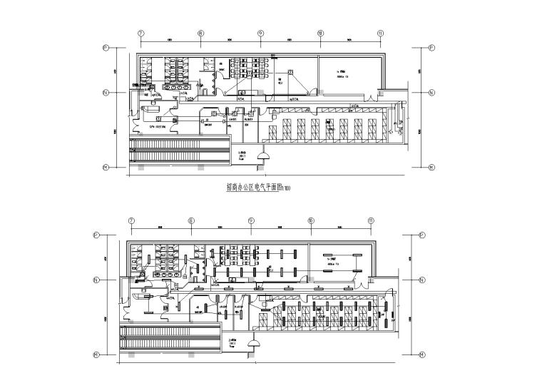 北京大型商业购物中心强弱电施工图
