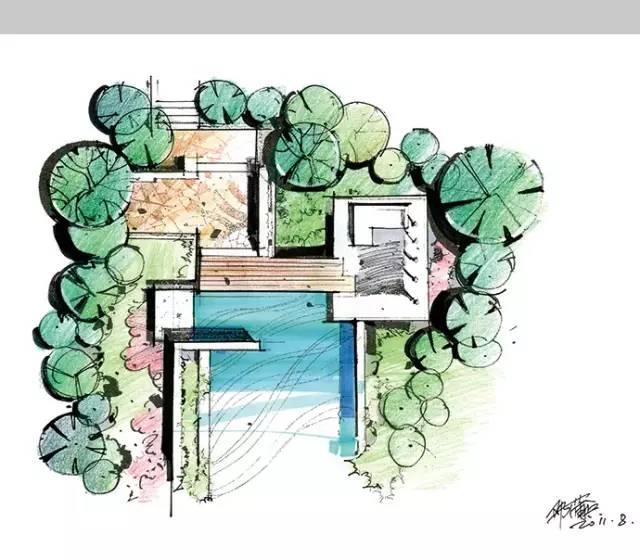 千张建筑、景观、室内马克笔手绘表现图分享_24