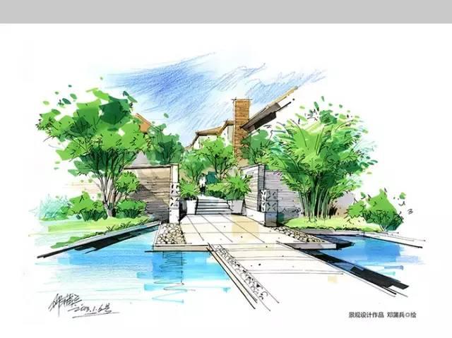 千张建筑、景观、室内马克笔手绘表现图分享_22