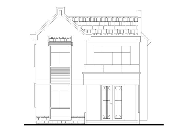 单家独院式别墅建筑施工图(CAD)