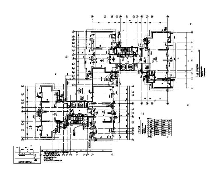 广东十五栋31层住宅区给排水设计施工图