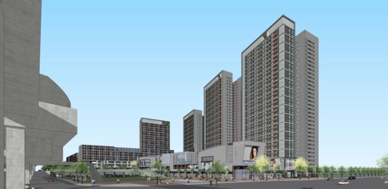 [重庆]现代风格商业综合体建筑模型设计
