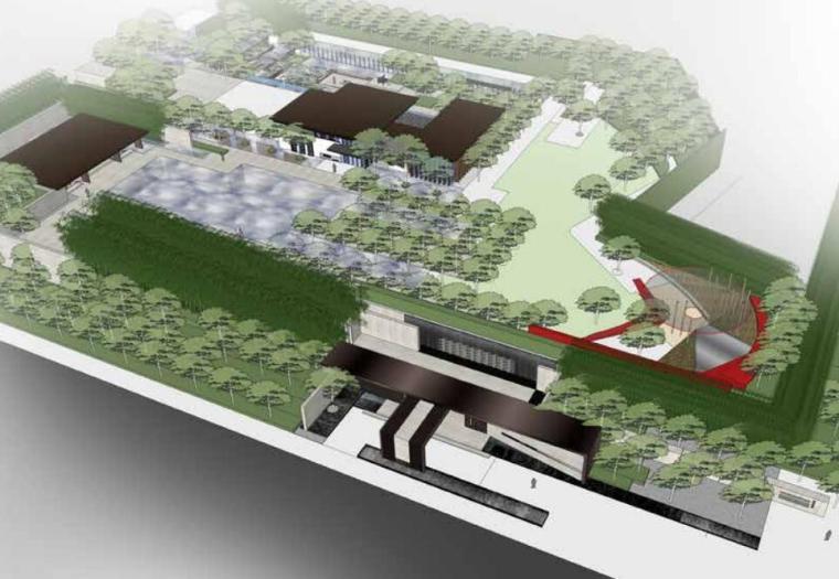 [四川]新中式风格居住区景观概念设计方案