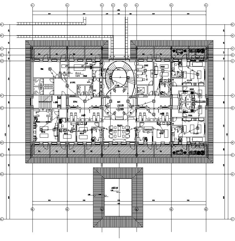 [知名院]内蒙古豪华酒店改造工程电气施工图