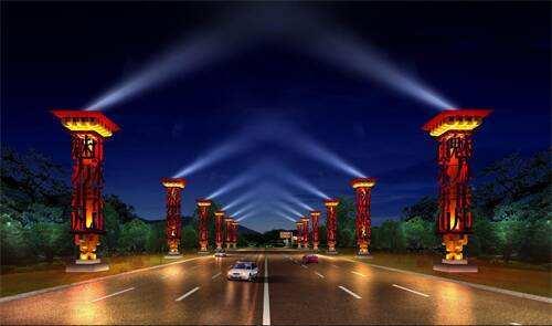 [长沙市]景观亮化工程图纸和工程量清单