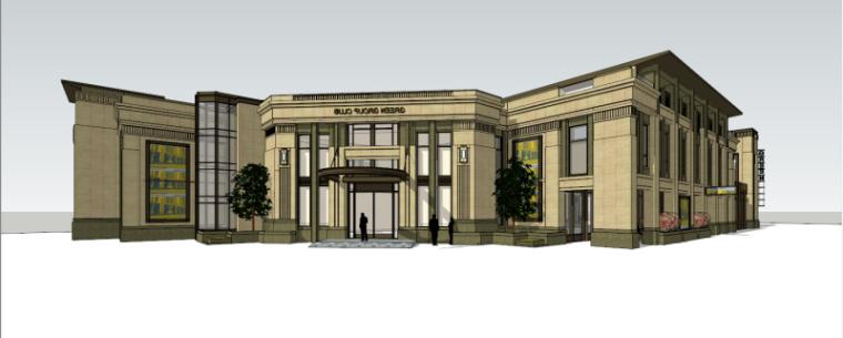 欧陆风格会所建筑模型设计