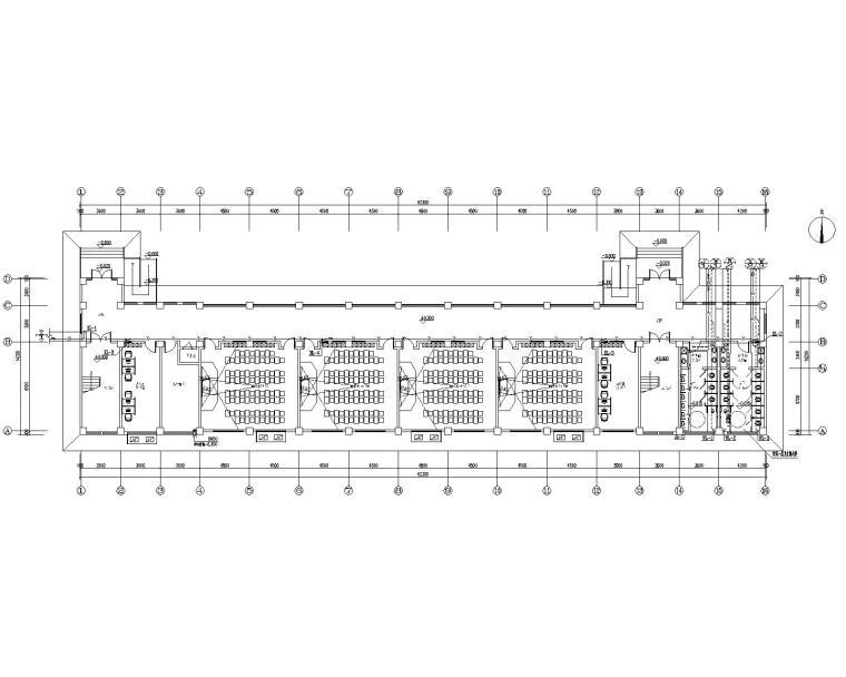 学校教学楼给排水消防水池水泵房室外管网图