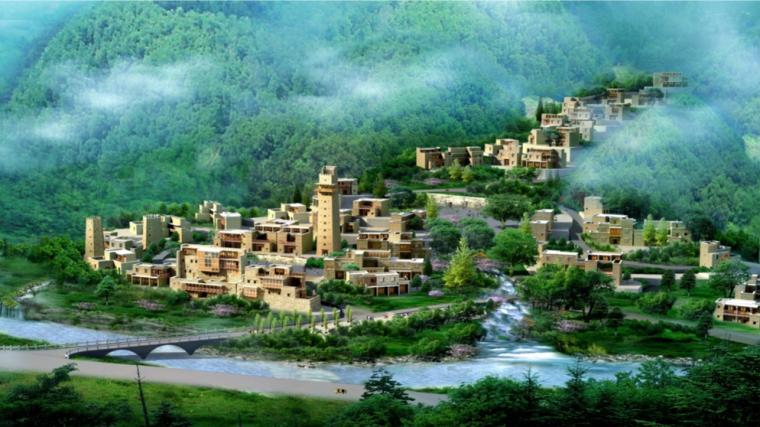 [四川]北川县羌寨特色村落聚居详细规划文本