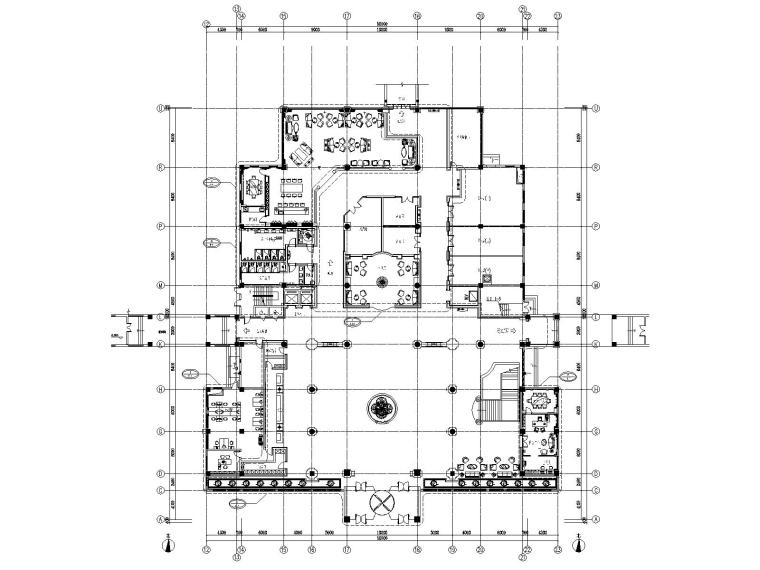 山西晋城晋邦大酒店室内装修CAD施工图