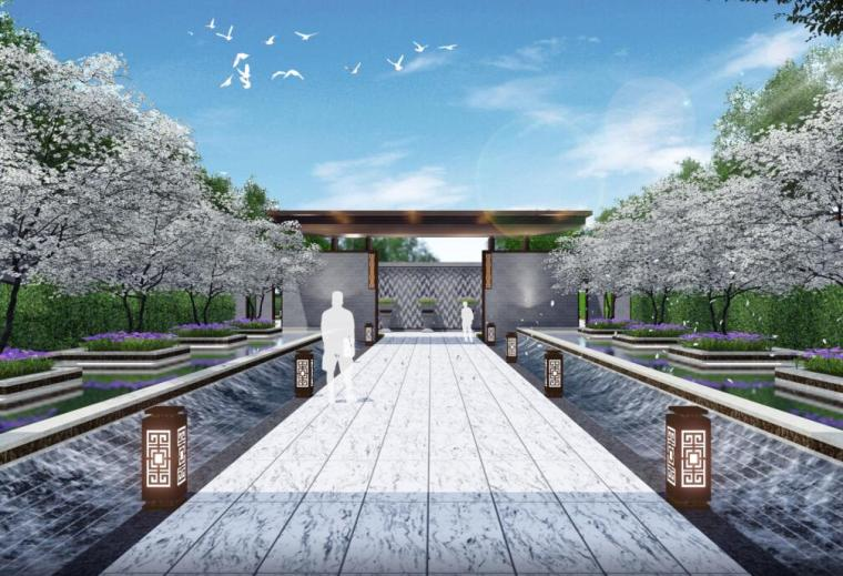 [江西]新中式风格居住区景观深化方案文本