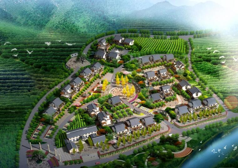 [四川]名山县新农村茶园产业规划建筑方案图