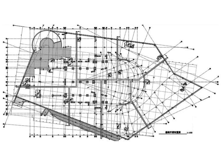 多单体框架/框剪结构歌剧院建筑结构施工图