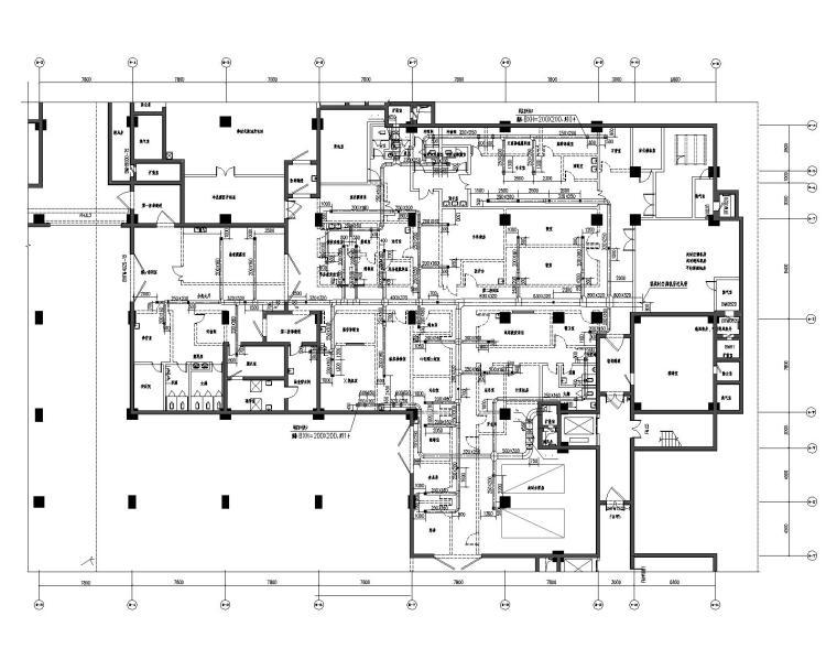 韩城市中医医院搬迁项目--暖通全套CAD图纸