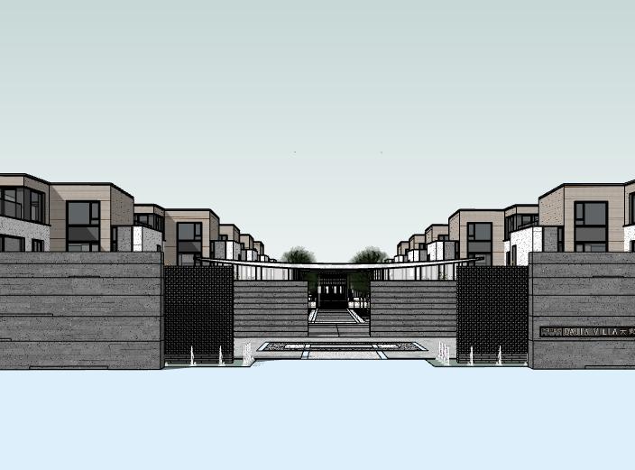 [江苏]青剑湖别墅住区项目建筑模型设计