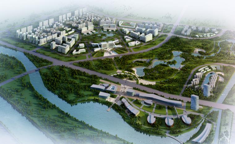 [江苏]旅游商务中心生态办公楼建筑方案图