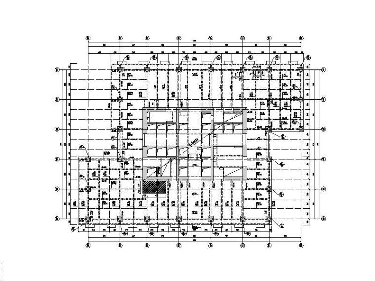 200m以上框筒结构酒店及办公楼结构施工图