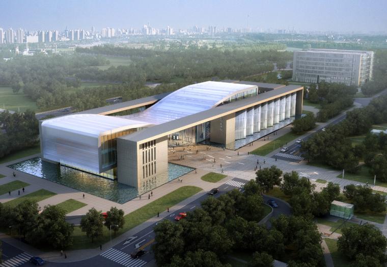 02政务中心政府办公建筑空间组合市民服务中心效果图