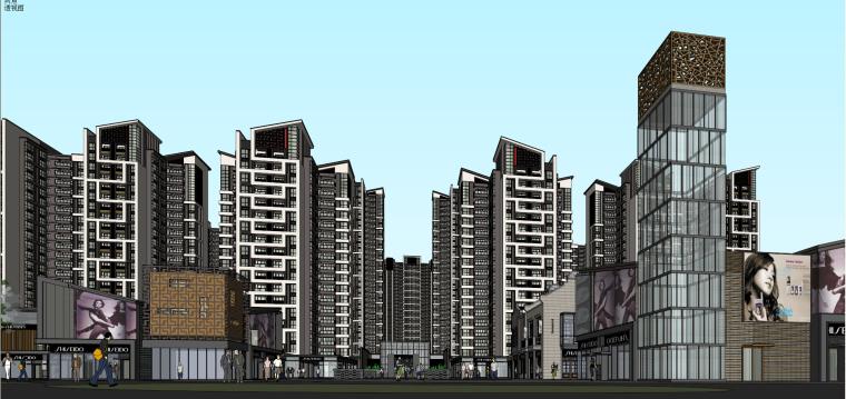 [广东]中式风格东荟城建筑模型