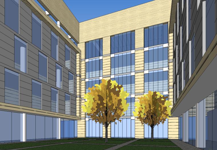 便民服务中心建筑空间模型设计