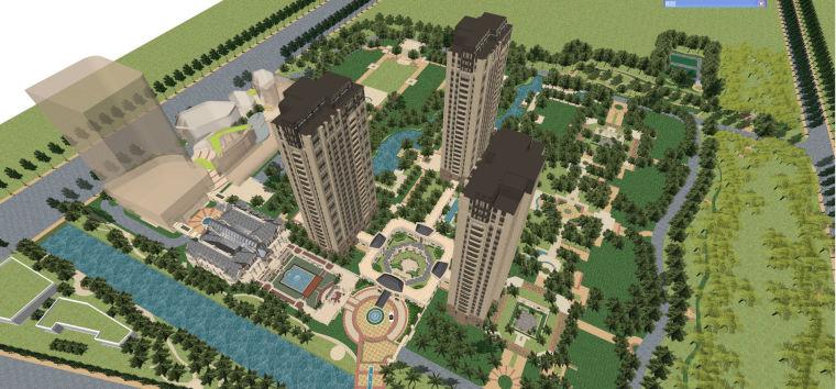英式+法式风格建筑模型设计