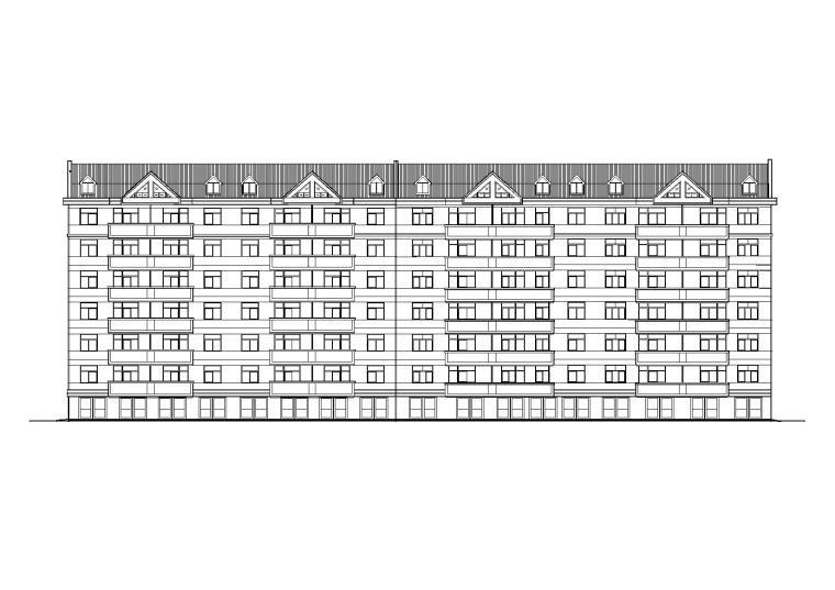 多层舒适三室一厅户型阁楼宿舍楼建筑施工图