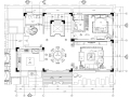 四居室中式风格别墅装修施工图+效果图