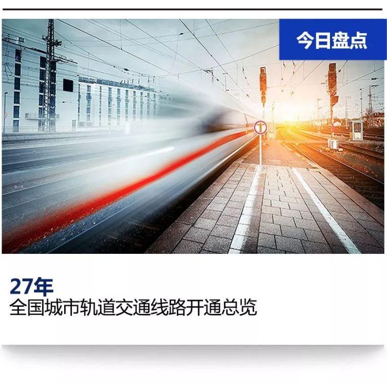 中国城市轨道交通全部线路开通大全