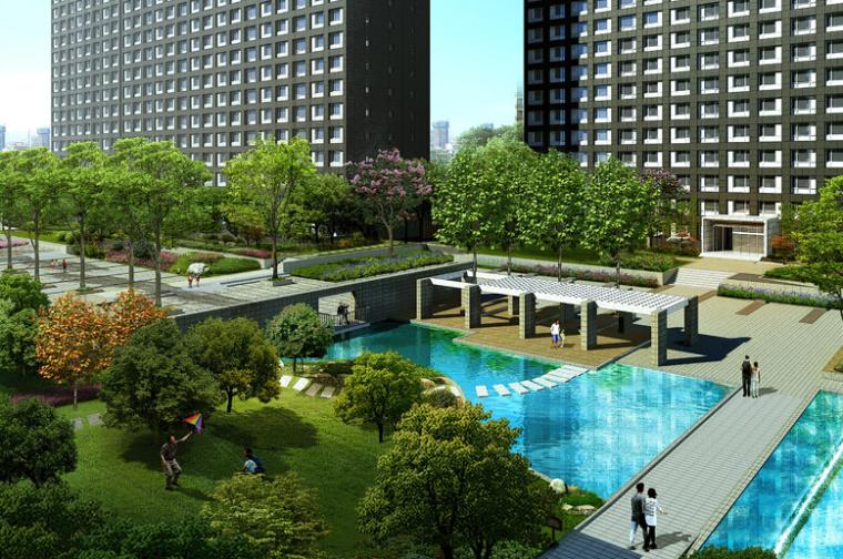[北京]现代风格万科蓝山建筑模型设计