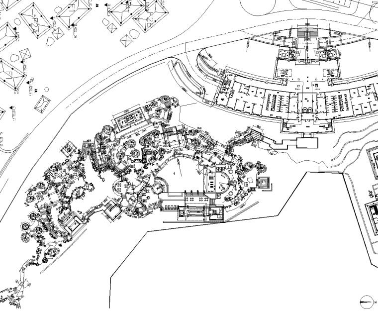 [云南]温泉度假区景观CAD施工图-含水电结构