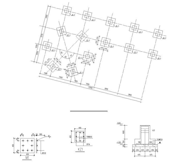 3 公园六角亭廊架一结构图_看图王