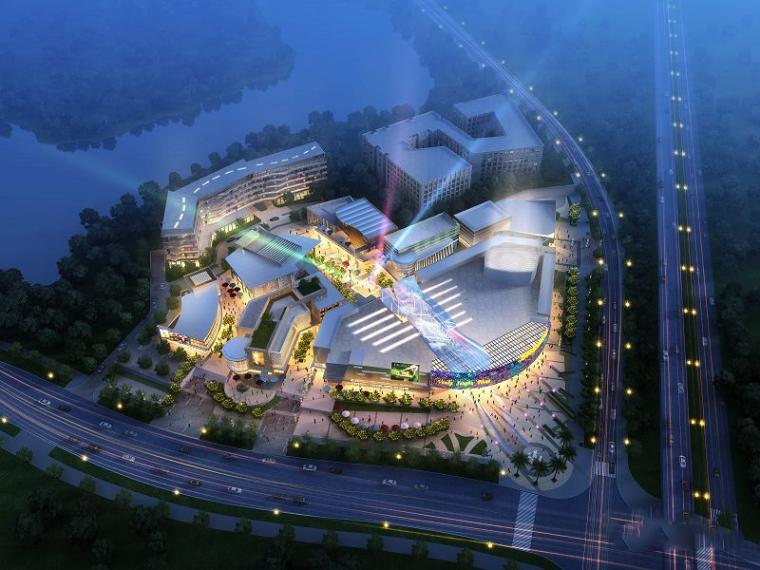 [广东]现代风格生活广场建筑模型设计