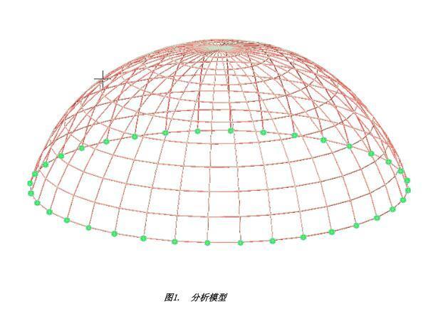 midasGen7.8.0例题-单层网壳屈曲分析