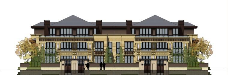 [江苏]万科苏州长风别墅建筑模型设计