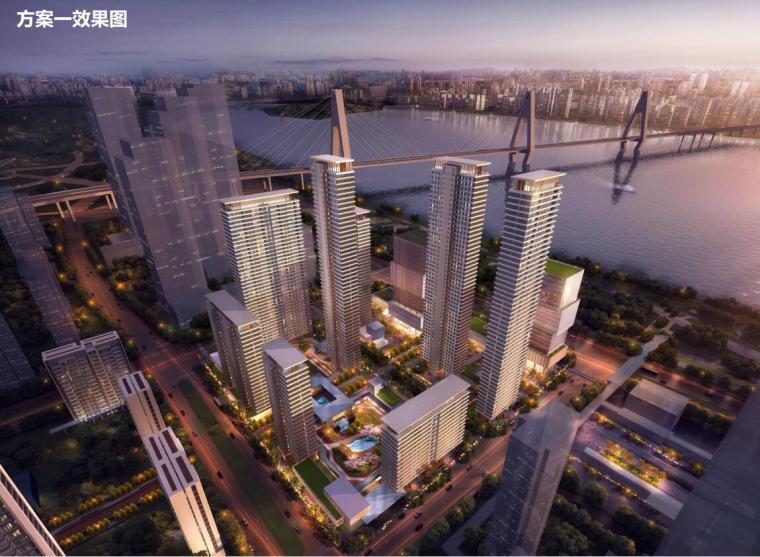 [湖北]新中式风格滨江金融城建筑方案设计