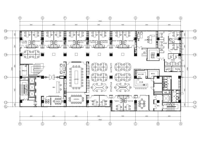 [浙江]宁波曼哈顿办公楼施工图+效果图