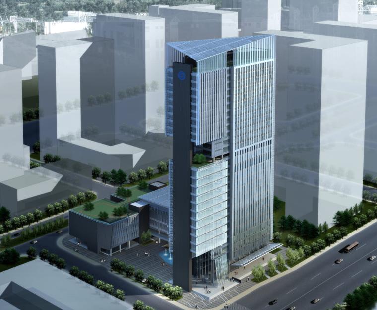 [江苏]南京移动公司综合办公楼建筑模型设计