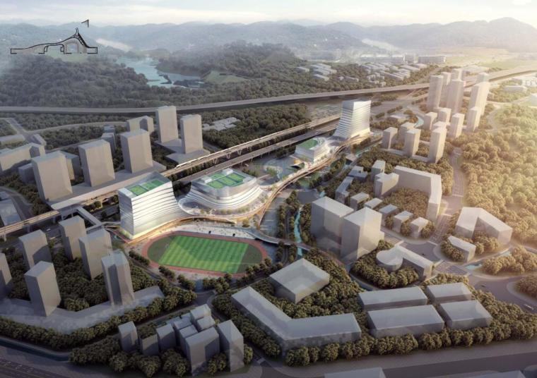[广东]体育中心和文化艺术中心建筑方案