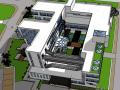 大学建筑系楼建筑模型设计
