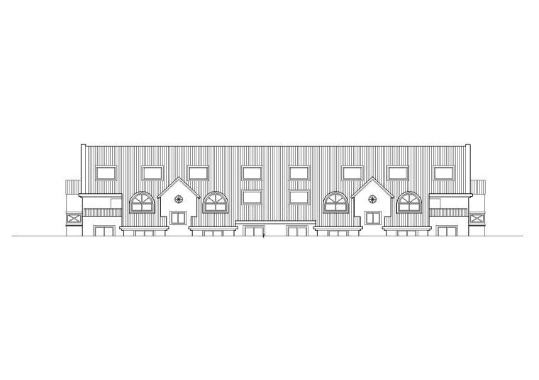 復式坡屋頂閣樓一梯兩戶住宅樓建筑施工圖