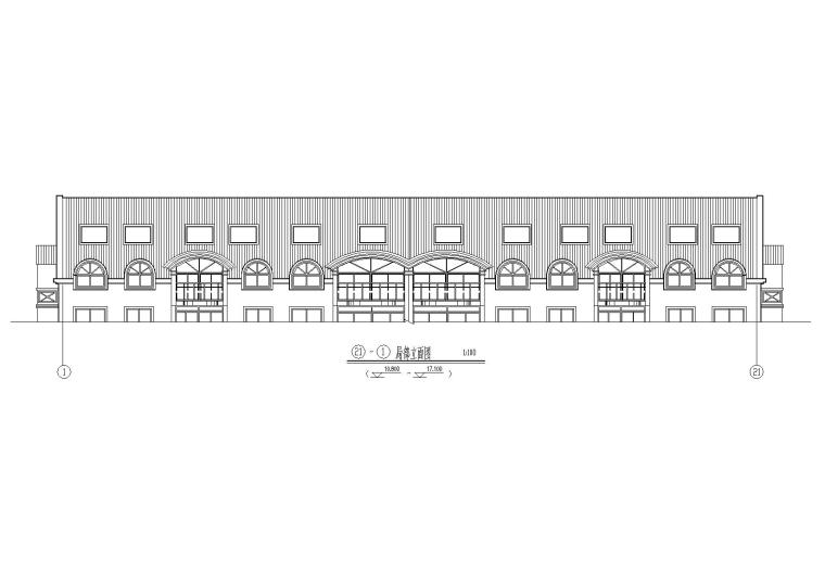 02二层坡屋顶住宅楼建筑立面图
