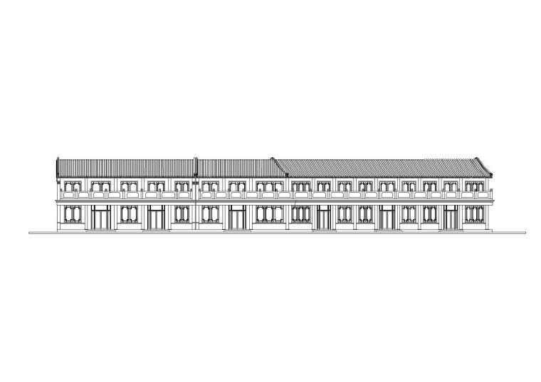 仿古商业街低层商业建筑设计施工图