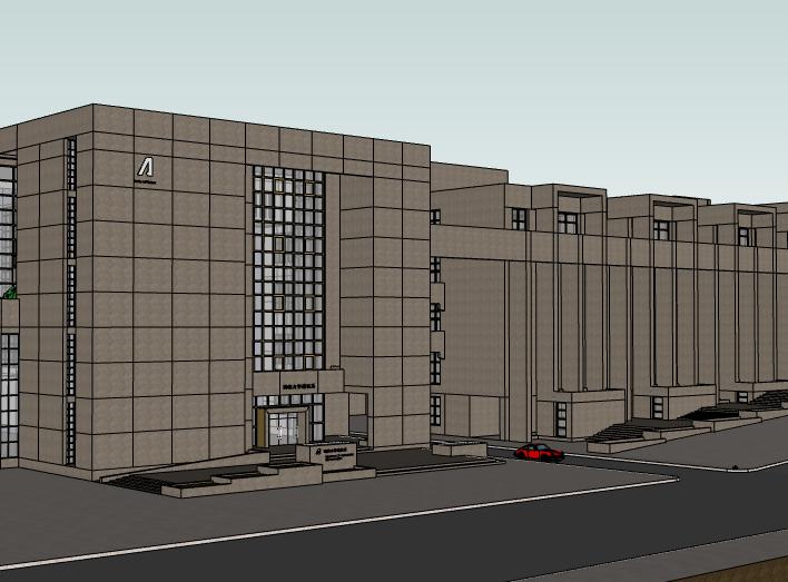 湖南大学建筑系楼建筑模型设计