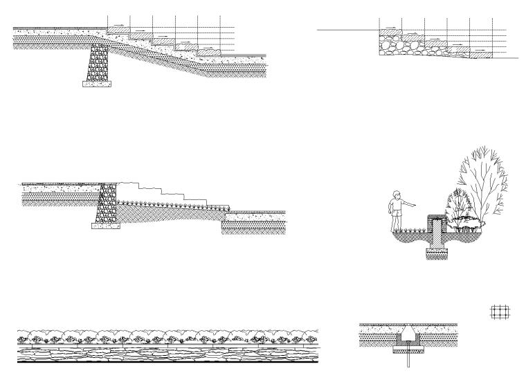 4 综合服务区台阶、矮墙详图_看图王