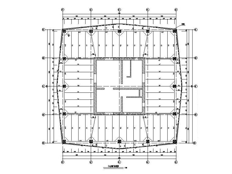 钢管砼框架钢混核心筒混合结构办公楼结构图