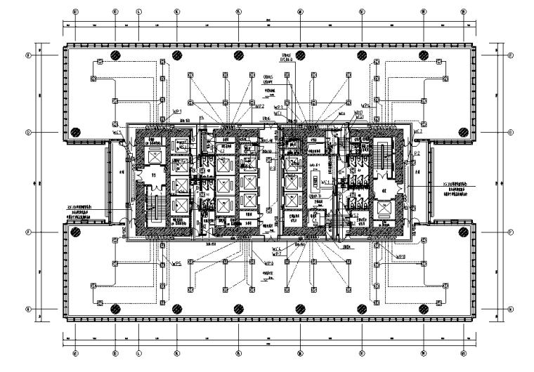天津超高层银行金融建筑强弱电施工图