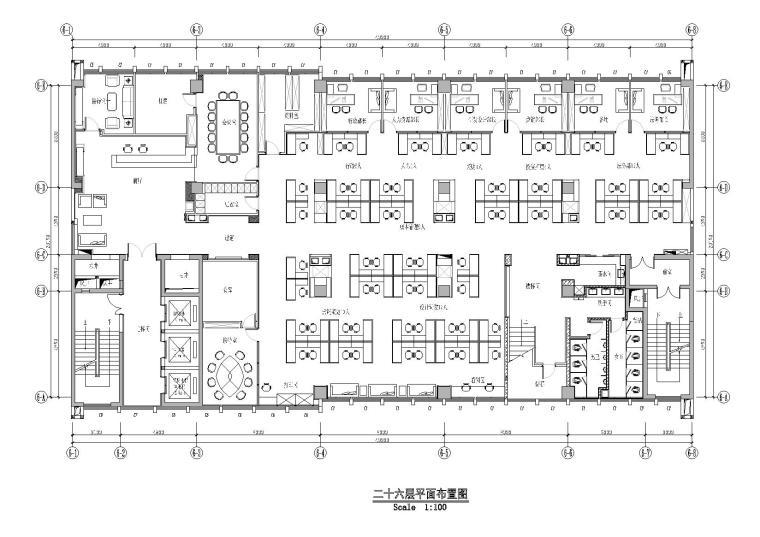 [湖北]MINFA民发集团办公楼施工图+效果图